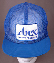ABEX Friction Products Hat-Patch-Blue-All Mesh-VTG-Automotive-Trucker-Hi... - $33.65
