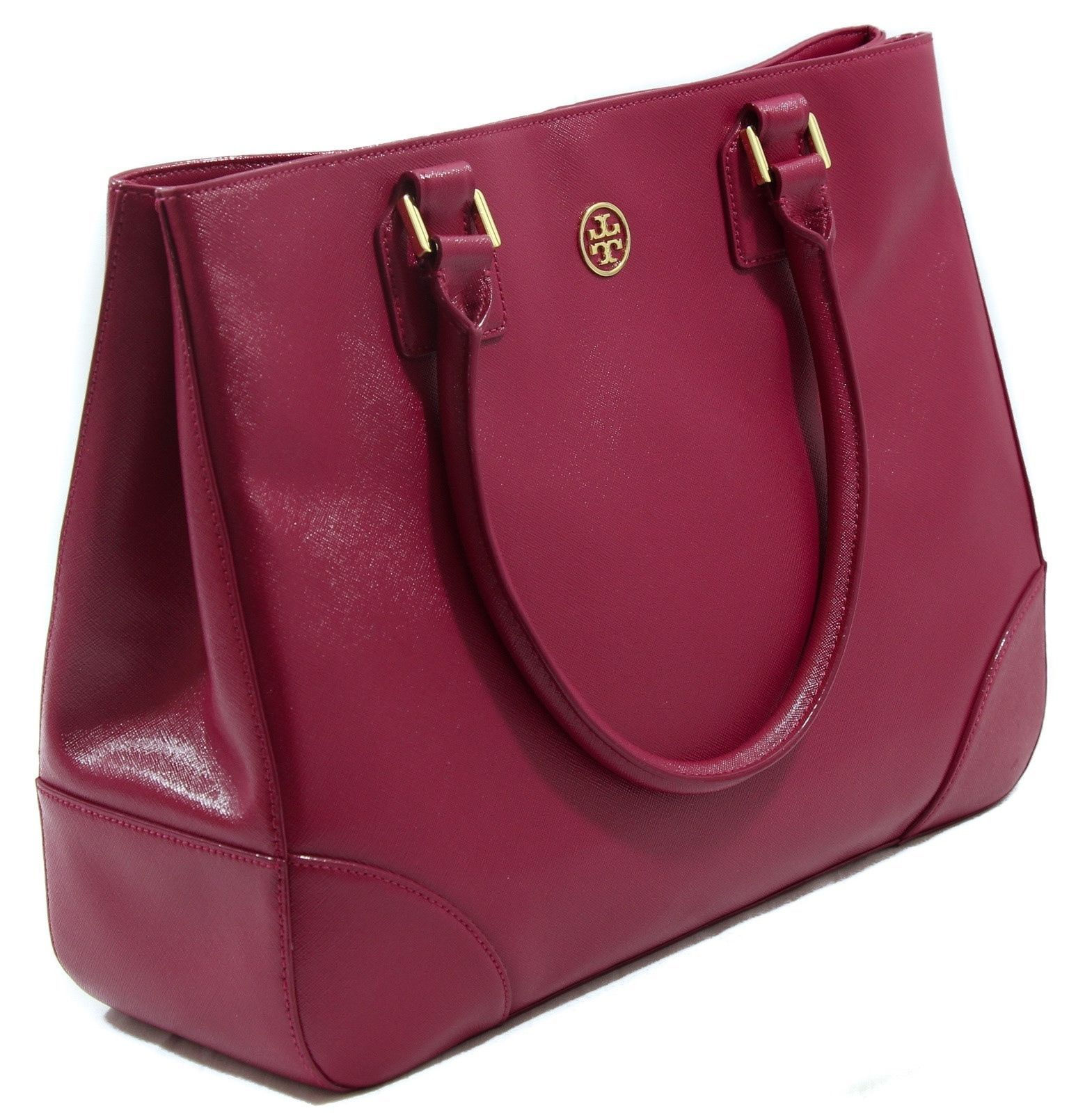 Tory Burch Robinson East West Leather Tote And 36 Similar Items Ronbinson Pebbled Mini Square Bag