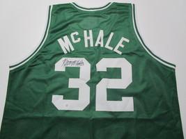 KEVIN MCHALE / NBA HALL OF FAME / AUTOGRAPHED BOSTON CELTICS CUSTOM JERSEY / COA image 1