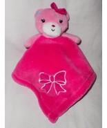 Baby Gear Dark Pink Bear Baby Security Blanket Lovey Bow Babygear - $25.71