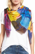 Echo Womens Cuba Bloom Print Square Scarf One Size White NEW NWT $99 Nor... - $19.80