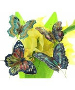 Cloisonne Butterfly picks. Set of 4pc. Decorate your garden!!   4397p - $28.95