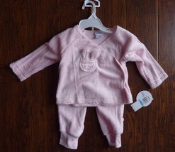 ABSORBA Baby Girls size 6-9 Months Pink 2 Pc Outfit Easter Bunny NEW - $19.55