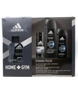 Adidas HOME+GYM Dynamic Pulse For Men 4 pc Set;  Eau de Toilette Natural... - $29.99