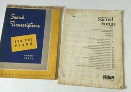 Sacred Transcriptions Songs Music Score Book Piano Gospel Christian Solo... - $9.89