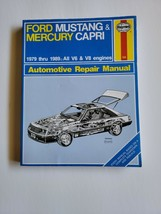 Haynes Ford V6 V8 Mustang Automotive Repair Manual Workshop 1979 Thru 1987 - $9.95