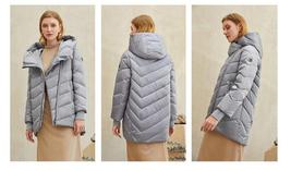 Women's New Style Hooded Solid Casual Short Quilted Puffer Windproof  Parka Coat image 3
