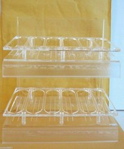 New! OPI Nail Polish 36pc Counter Display Stand Rack Holder Clear Arcylic 2 Tier - $18.33