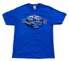 VTG Chicago Cubs Wrigley Field T-Shirt Size Large Blue 2008 - $9.89