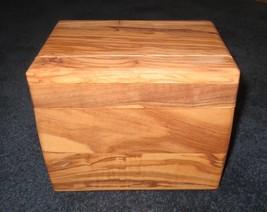 "NEW Williams Sonoma  Olivewood Recipe Box 7"" x 5"" x 5 1/2"" - $39.95"