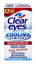 Clear Eyes | Cooling Comfort Redness Relief Eye Drops | 0.5 FL OZ | Pack... - $16.07