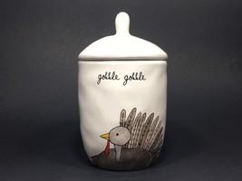 Rae Dunn Thanksgiving Gobble Gobble Small Ceramic Canister - $29.02