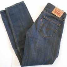 LEVI'S Mens 514 Dark Wash Blue 29 X 31 Straight Leg Fit Cotton Jeans  - $25.99