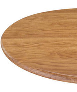 Wood Grain Fitted Table Cover-45-56-dia-Round-Pine - $26.23