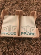 1964 Probe Board Card Game Replacement Parts 48 Probe Cards w/rack Only - $5.94