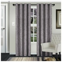 Waverly Silver Embossed Wave Blackout Insulated Grommet Curtains 2 Panels - $37.57+