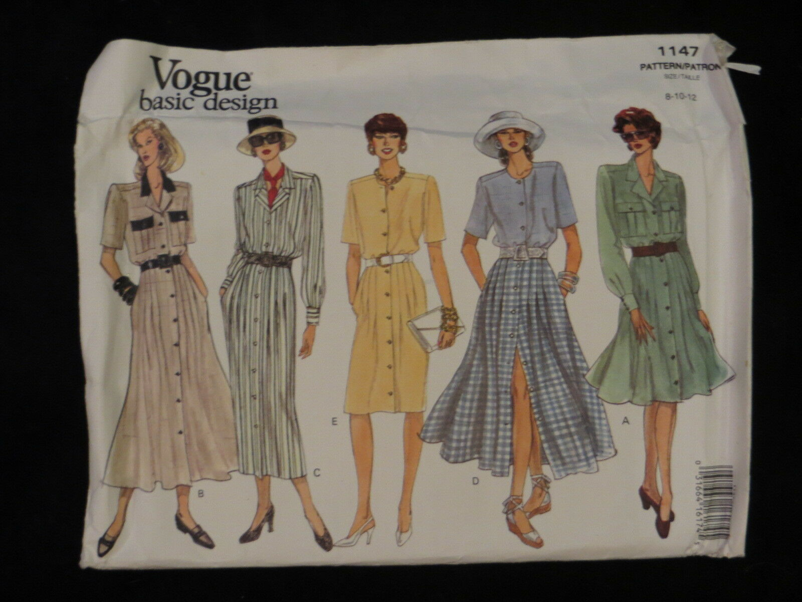 Primary image for 1993 Vogue Basic Design 1147 PATTERN Dress Size 8 10 12