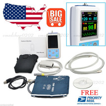 FDA CE PM50 Portable Patient Monitor Vital Signs NIBP SPO2 Pulse Rate Me... - $98.01