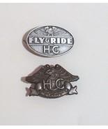 Harley Davidson Motorcycles Fly Ride and 1983 HOG Jacket Vest Pin - $7.95