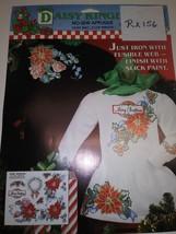 Christmas No Sew Fabric Applique, Daisy Kingdom, (RX156) - $1.00