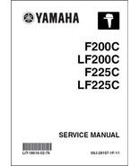 Yamaha F200 LF200 F225 LF225 4-Stroke Outboards Service Repair Manual CD - $12.00