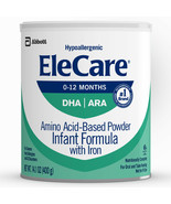 EleCare Amino Acid Based Infant Formula with Iron, Powder, Unflavored 14... - $49.75