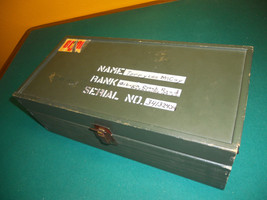 "VINTAGE 1960s GI JOE 12"" WOOD FOOT LOCKER NO TRAY - $19.99"