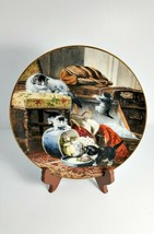 """Henriette Ronner's """"Mischief With The Hatbox"""" Cat Collector Plate1990 #19023A - $27.72"""