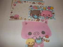 KAMIO JAPAN Pig & Bee Letter Set Stationery w/Envelopes 5 Piece - $5.94