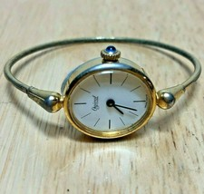 Vintage Ogival Swiss Lady Oval Cuff Bangle Hand-Winding Mechanical Watch... - $17.09