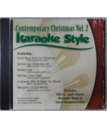 Contemporary Christmas Volume 2 Christian Karaoke Style NEW CD+G Daywind... - $15.86