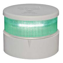 Aqua Signal Series 34 All-Round Mast Mount Light - Green LED - White Housing [34 - $91.83