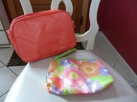 2 peach cosmetic bags by Clinique - $7.25