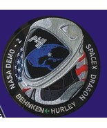 NASA Demo-2 Space X Dragon Hurley Behken Mission To Space Telsa sew on P... - $14.99