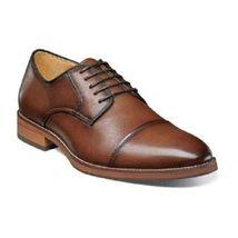 Handmade Brown Color Cap Toe Formal Dress Stylish Men Lace Up Tan Sole Shoes - $139.90+