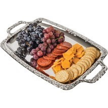 Sterlingcraft Rectangle Snack Horderves Appetizer Serving Party Platter ... - $379,35 MXN