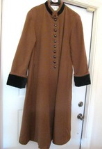 INTERNATIONAL SCENE Long Coat w Velour Cuffs Made in Russia Women's 11/1... - $89.95