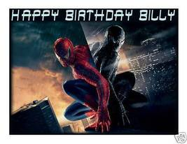 Spiderman 3 Edible Cake Image Cake Topper - $8.98+
