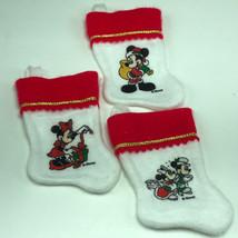 Walt Disney Christmas Stockings Set Of Three 3 Mickey Minnie Mouse Present Gift - $13.17