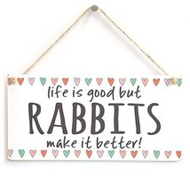 Meijiafei life is good but RABBITS make it better! - Beautiful Home Deco... - $12.86