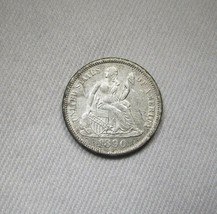 1890-P Silver Seated Liberty Dime UNC Details Coin AH542 - $104.42