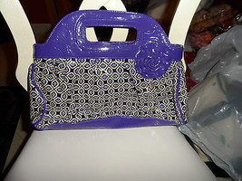 Vera Bradley Got it handled clutch in simply violet frill pattern - $9.50