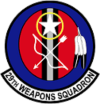 USAF 29th Weapons Squadron 12'' Sticker - $24.74