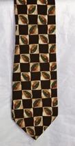 Structure Men's Neck Tie 100 % Silk Leaves - $10.93