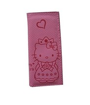 Hello Kitty Style Kitty with Heart Design Pink Clutch Wallet Handbag, HK... - $9.87