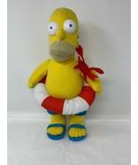 "The Simpsons Homer Plush 15"" Swim Float Sandals Crab Stuffed Doll Toy Fa... - $11.90"