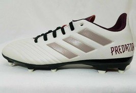 Adidas Predator 18.4 Firm Ground Soccer Cleats 6, Women's White Youth 4.5 DB2512 - $32.66