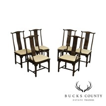 Drexel Heritage Vintage Set 6 Asian Style Dining Chairs - $1,195.00