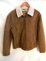 Vintage 1980's Levis Brown Polyester Faux Fur Jacket Size L - $29.99