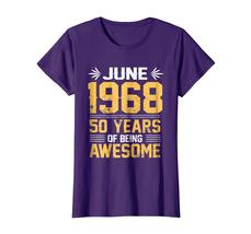 Uncle Shirts -   Legends Born In JUNE 1968 50 Yrs Years Old Being Awesome Wowen image 4